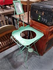 Sale 8717 - Lot 1045 - Folding Metal Wash Stand
