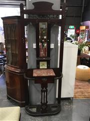 Sale 8782 - Lot 1334 - Edwardian Hall Stand with Marble Shelf