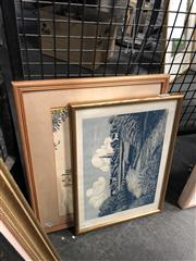Sale 8797 - Lot 2114 - Pair of colour woodcut prints of English Towns by Yvonne Wise -