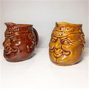 Sale 8878T - Lot 92 - Elischer Face Jugs Boson Bill for Beenleigh Rum, in Brown and Ocre Glaze Height - 14.cm