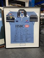 Sale 8990 - Lot 2083 - NSW Waratahs Signed Super 12s Jersey 2005