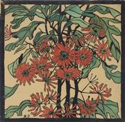 Sale 9078A - Lot 5018 - Margaret Preston (1875 - 1963) - Wheel Flower 36 x 36 cm (frame: 67 x 67 x 3 cm)