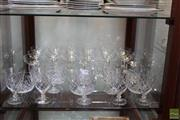 Sale 8217 - Lot 140 - Hollow Stem Champagne Bowls with Other Glass & Crystal Drink Wares