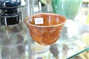 Sale 8330T - Lot 131 - Horn Carved Stem Cup (Height - 7.5cm)