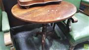 Sale 8375 - Lot 1073 - Georgian Style Mahogany Wine Table, with tilt-top on pedestal base
