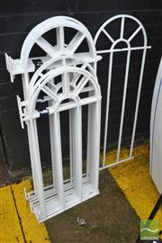 Sale 8338 - Lot 1380 - Collection of Twelve Metal Fence Panels