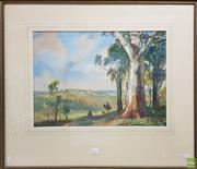 Sale 8609 - Lot 2010 - Henry Martin (1891 - 1944) - Riding through Country, watercolour 38x 52cm, signed lower right