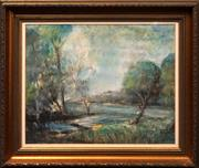 Sale 8699 - Lot 2076 - Graham Dodd (1933 - 2006) - Murray River 36.5 x 46cm