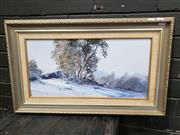 Sale 8961 - Lot 2069 - Alan Grosvenor (1925 - ) Perisher Tops oil on canvas on board, 40 x 65 cm (frame), signed lower right