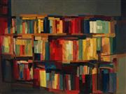 Sale 8980A - Lot 5016 - Una Foster (1912 - 1996) - Abstract Bookshelf 76 x 102 cm