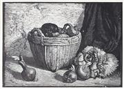 Sale 9055A - Lot 5060 - Lionel Lindsay (1874 - 1961) - The Chinese Basket 90 x 13 cm (frame: 21 x 26 x 2 cm)