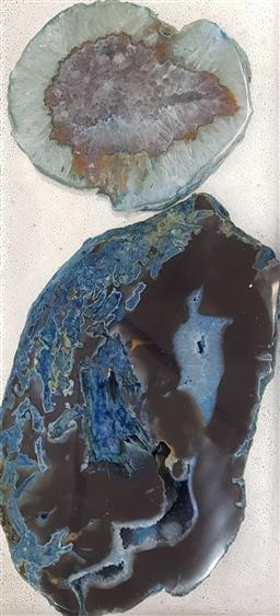 Sale 9137 - Lot 1096 - Pair of agate slices