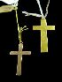 Sale 7358 - Lot 55 - TWO CROSSES, ONE 9CT AND ONE 15CT GOLD.