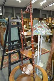 Sale 8129 - Lot 1036 - Victorian Walnut & Painted Corner Whatnot