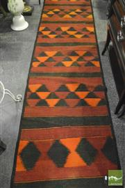 Sale 8305 - Lot 1021 - Persian Hand-Knotted Kilim Hall Runner (315 x 75cm)