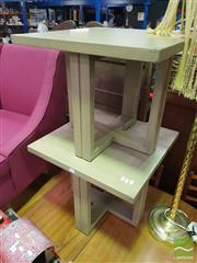 Sale 8495F - Lot 1078 - Pair of Modern Timber Side Tables