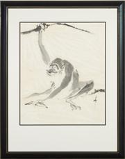 Sale 8697A - Lot 15 - Artist Unknown - Chinese school - study of a monkey 48 x 40cm