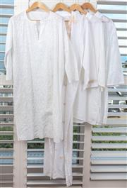 Sale 9023H - Lot 92 - Four embroidered and patterned kaftans in white linen cotton Egyptian example all size L