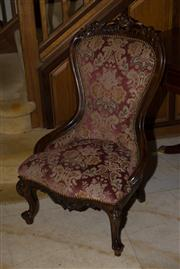 Sale 7981B - Lot 12 - Well upholstered Victorian ladies chair