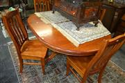 Sale 8093 - Lot 1547 - Circular Dining Table w 4 Chairs  (041458)