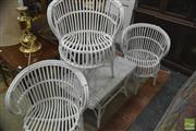 Sale 8326 - Lot 1751 - Set of 3 Wicker Tub Chairs And Table