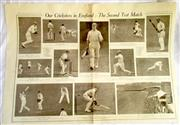 Sale 8460C - Lot 51 - Sydney Mail double page Wednesday June 30, 1926 showing Australian cricketers in England. Trimmed, Very good.