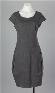 Sale 8661F - Lot 14 - A Marithe + Francoise Girbaud charcoal cotton blend A-line dress with cap sleeves, size US7