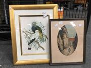 Sale 8730 - Lot 2083 - 2 Works: Artist Unknown - Rue de Cluthe, SLR with a Framed Bookplate - Pigeons