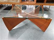 Sale 8801 - Lot 1028 - TH Brown Glass Top Coffee Table