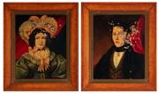 Sale 9015J - Lot 189 - Colonial School - pair of early 19th Century portraits each 51 x 41cm