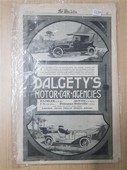Sale 9152 - Lot 2339 - Collection of Dalgetys Motor car Agencies Adverts in the Bulletin