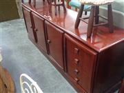 Sale 7969A - Lot 1099 - Timber Sideboard with 3 Doors Flanked by 4 Drawers