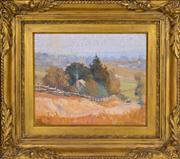 Sale 8374 - Lot 567 - Robert Johnson (1890 - 1964) - Carlingford from Pennant Hills, 1924 29.5 x 36cm
