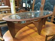 Sale 8643 - Lot 1038 - Oval G Plan Atmos Coffee Table with Glass Top