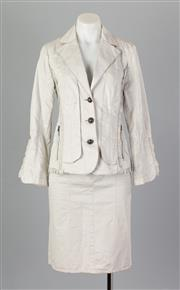 Sale 8661F - Lot 9 - A Marccain utility blazer with matching skirt, both approx. size 8