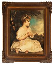 Sale 8881H - Lot 82 - After Gainsborough - Seated Infant