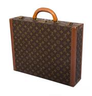 Sale 8888H - Lot 39 - A vintage French Louis Vuitton President briefcase business bag, 45 x 35 x 11 cm.
