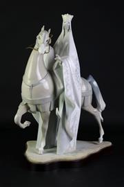 Sale 8894 - Lot 81 - A Lladro Style Figure of A King on Horse Back (H 39cm)