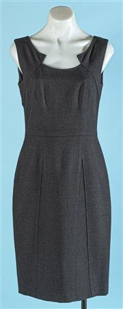 Sale 9090F - Lot 182 - A VERONIKA MAINE PANELLED DRESS, in black wool with zip to back, size 8