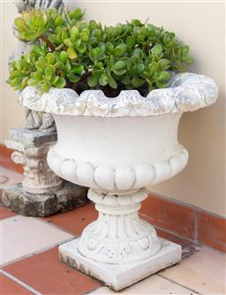 Sale 9165H - Lot 21 - A Small classical concrete planter. Height 34cm