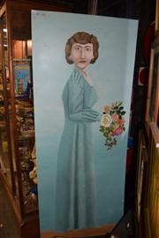 Sale 8410T - Lot 2081 - Artist Unknown (XX) (Un)Happy Bridesmaid, acrylic on board, 183 x 75cm, signed and dated upper left
