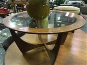 Sale 8643 - Lot 1110 - Round G Plan Atmos Coffee Table with Glass Top