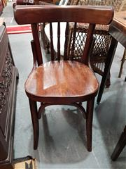 Sale 8904 - Lot 1080 - Set of Four Bentwood Dining Chairs