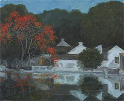 Sale 9118A - Lot 5038 - Pham Luan (1943 - ) - Red Leaves over West Lake, 1995 65 x 80 cm