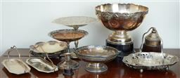 Sale 9103M - Lot 534 - A group of EPNS wares including comports and trays, tallest Height 18.5cm