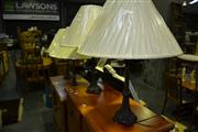 Sale 8013 - Lot 1036 - Four Metal Based Table Lamps