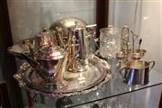 Sale 8116 - Lot 88 - Silver Plated Coffee Pot with Other Plated Wares incl Trays