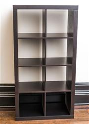 Sale 8222 - Lot 87 - An 8 hole pigeon unit in dark brown timber effect, H 150, 79, 40