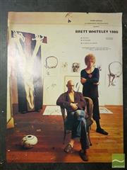 Sale 8491 - Lot 2075 - Group of Assorted Prints and Original Artworks incl. Brett Whiteley Poster, Chinese Gouache Paintings, and other Decorative works.
