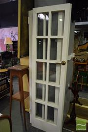 Sale 8532 - Lot 1310 - Pair of French Timber Doors with Glass Panels